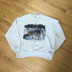 Vintage 90's Bruce Miller Nature Crewneck Sweater